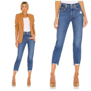 NEW Levi's 501 High Rise Cropped Straight Jeans